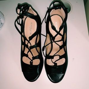 Coach strapped heels